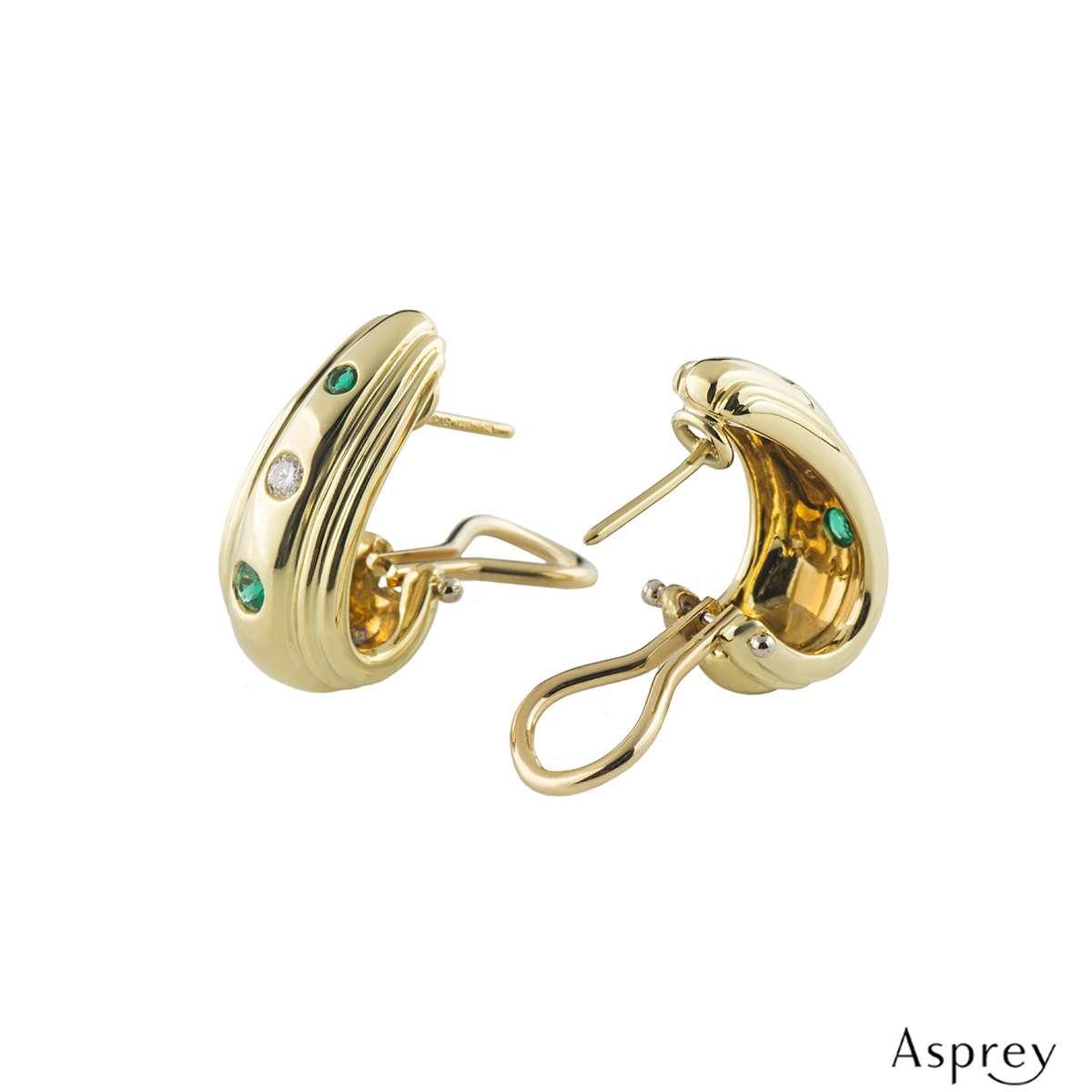 Asprey Diamond and Emerald Earrings